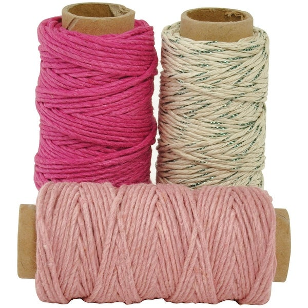 Lucky Dip Mixed Hemp Cord 1.0Mmx21m 3/Pkg-Candy