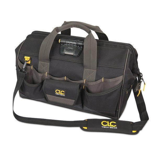 CLC L232 45 Tech Gear LED Lighted Big Mouth Tool Bag, 18""