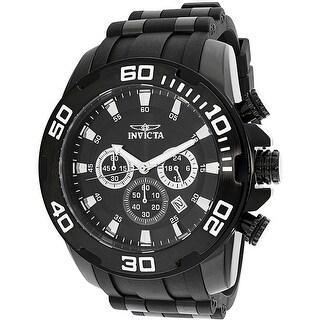 Invicta Men's Pro Diver 22338 Black Silicone Japanese Chronograph Dress Watch
