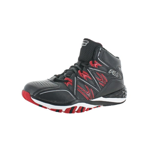 Fila Mens Posterizer Basketball Shoes Perforated Mesh Overlays