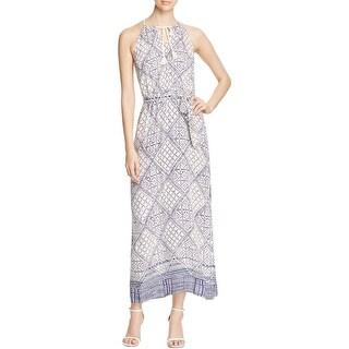 Three Dots Womens Trish Casual Dress Maxi Printed