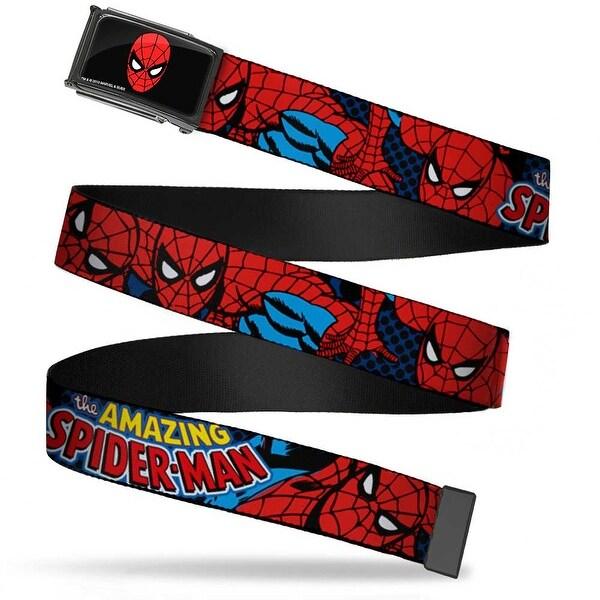 Marvel Comics Spider Man Face Fcg Chrome Amazing Spider Man Webbing Web Belt