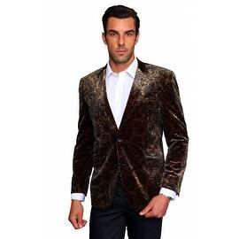 MZV-200 TAN Men's Manzini Fancy Paisley design Velvet, sport coat|https://ak1.ostkcdn.com/images/products/is/images/direct/d30ff9253ab3d60e905fed4e93d8019876cf6a53/MZV-200-TAN-Men%27s-Manzini-Fancy-Paisley-design-Velvet%2C-sport-coat.jpg?impolicy=medium