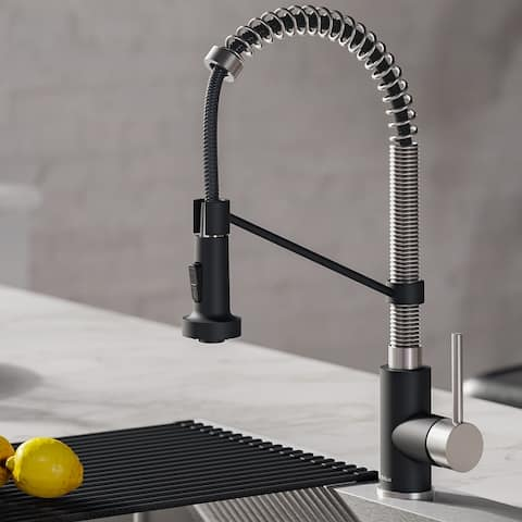 Kraus Bolden 2-Function 1-Handle Commercial Pulldown Kitchen Faucet