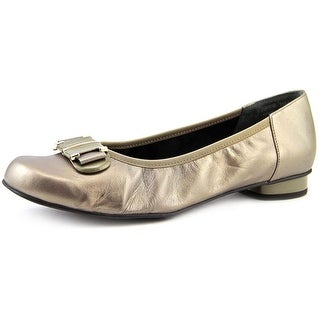 Rose Petals by Walking Cradles Mila Women Round Toe Leather Gold Flats