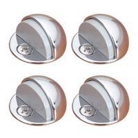 4 Brass Door Stop Dome Floor Mount Bumper Chrome | Renovator's Supply