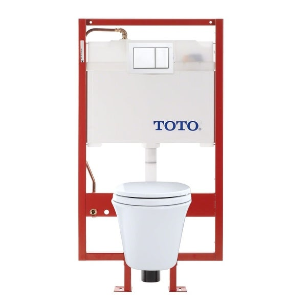 Toto Cwt486mfg 2 Maris Two Piece Elongated 1 6 Gpf Wall Mounted Toilet With Dual Max
