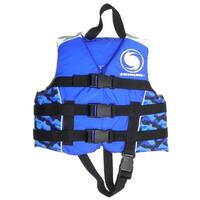 USCG Approved Water or Swimming Pool Cool in Blue Camouflage Child Life Vest for Boys - Up to 50lbs