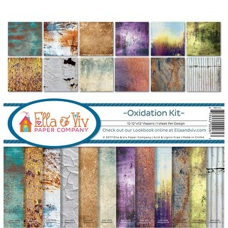 "Ella & Viv Collection Kit 12""X12""-Oxidation, 12 Designs/1 Each"