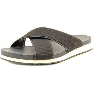 Calvin Klein Campbell Webbing Open Toe Canvas Slides Sandal