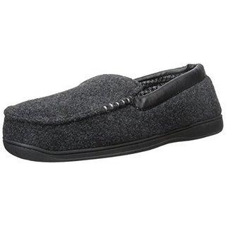 Dearfoams Mens Slip On Loafer Moccasin Slippers - 9-10 medium (d)