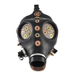 Full Face Copper / Black Steampunk Watch Gears Mask Cosplay Spikes