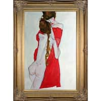 Egon Schiele 'Mother and Daughter, 1913' Hand Painted Oil Reproduction