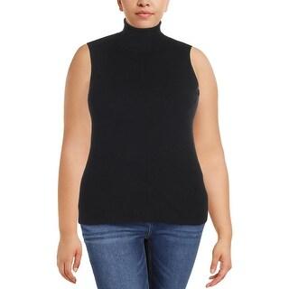 Lauren Ralph Lauren Womens Raquel Turtleneck Sweater Ribbed Sleeveless