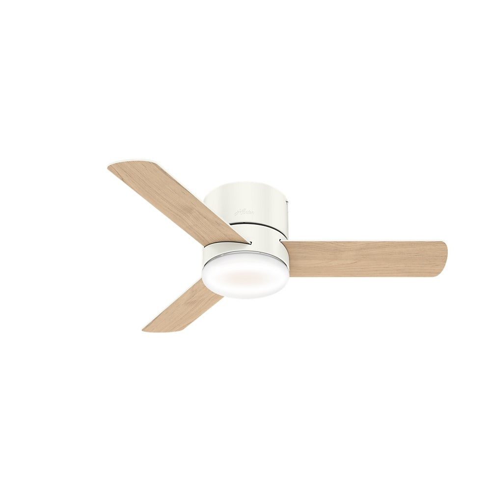 Hunter 44 Minimus Low Profile Ceiling Fan With Led Light And Handheld Remote Overstock 28302291
