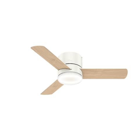"Hunter 44"" Minimus Low Profile Ceiling Fan with LED Light and Handheld Remote"