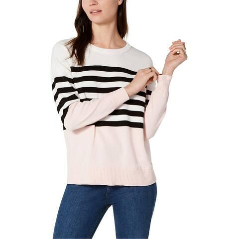 Tommy Hilfiger Womens Block Stripe Pullover Sweater