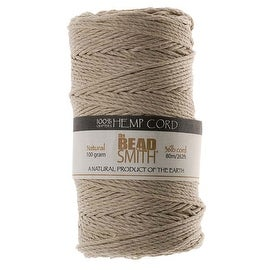 Beadsmith Natural Hemp Twine Bead Cord 1.5mm / 262 Feet (80 Meters)