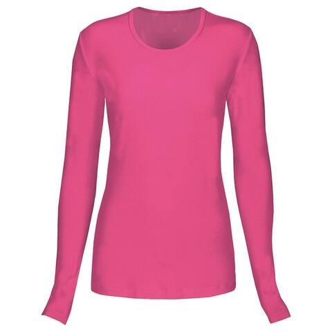 T Flex Womens Comfort Long Sleeve T-Shirt Underscrub Tee Layering Shirt Uniform