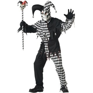 California Costumes Evil Jester Adult Costume (Black/White) - Black/White