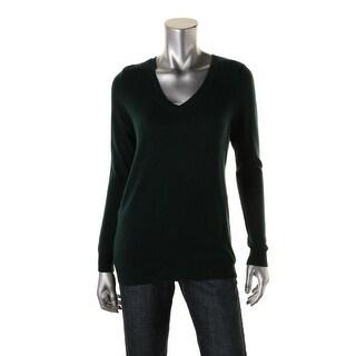 Private Label Womens Cashmere V-Neck Pullover Sweater