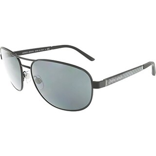 Giorgio Armani Men's AR6036-313987-60 Grey Rectangle Sunglasses