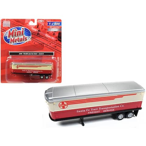 1940\'s-1950\'s Aerovan Trailer Santa Fe Trail Transportation Co. Freight Service 1/87 (HO) Scale Model by Classic Metal Works