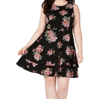Link to B. Darlin Womens Dresses Black Size 22W Plus A-Line Floral Printed Similar Items in Dresses