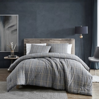 Link to Kenneth Cole New York Sussex Flannel Black Duvet Cover Set Similar Items in Duvet Covers & Sets
