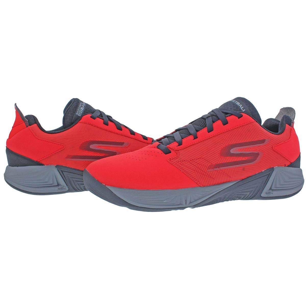 Skechers Torch LT Men's Synthetic Low Top Basketball Shoes Red Size 13 13 medium (d)