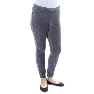 Womens Gray Casual Skinny Leggings Size XL