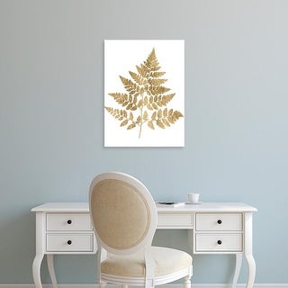Easy Art Prints Studio W's 'Graphic Gold Fern I' Premium Canvas Art