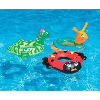 """Inflatable Dinosaur Swim Ring Tube Pool Float for Ages 2 and up 24"""" - Green"""