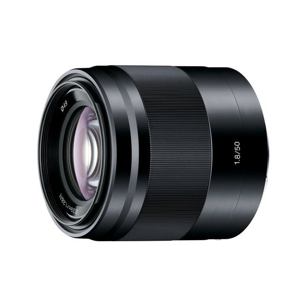 Sony E 50mm f/1.8 OSS Lens (Black) - Black