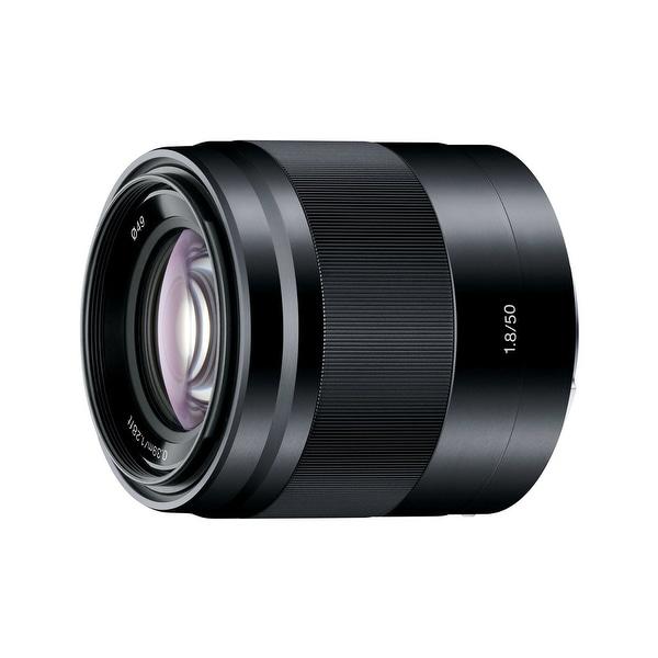 Sony E 50mm f/1.8 OSS Lens (Black) - black