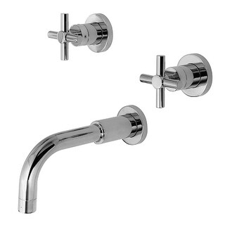 Newport Brass 3-995 East Linear Wall Mounted Roman Tub Faucet Trim with Metal Cross Handles