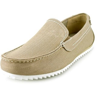 GBX Harpoon Men Moc Toe Canvas Tan Loafer