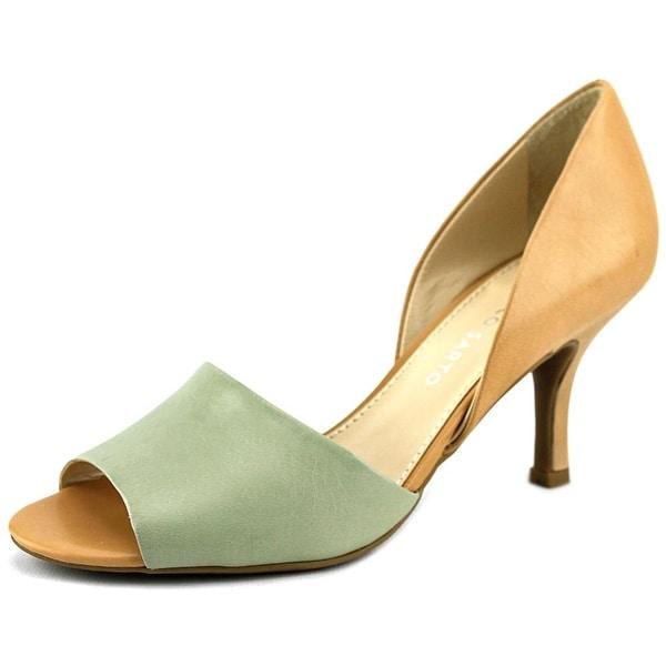 Franco Sarto Ilsa   Peep-Toe Leather  Heels