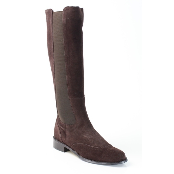 Vaneli NEW Brown Rasha Shoes Size 6M Zip Knee-High Suede Boots