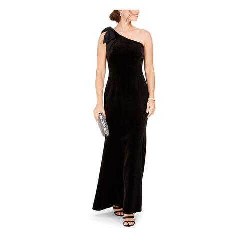 ELIZA J Womens Black Sleeveless Maxi Sheath Evening Dress Size 4