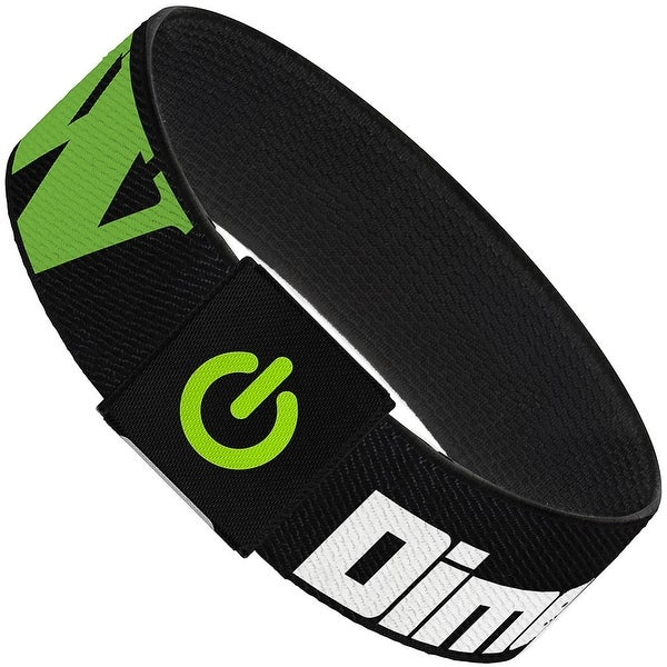 Dimension W Black White Green Elastic Bracelet