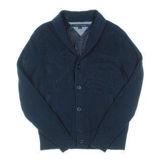 Tommy Hilfiger Mens Shawl Collar Knit Cardigan Sweater - M