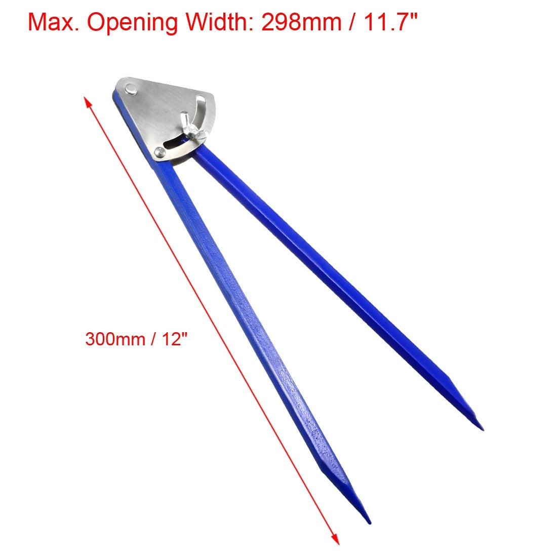 uxcell Metalworking 14 inch Marking Alloy Divider Caliper Tool Blue