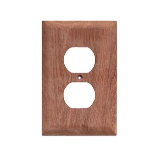 Whitecap Teak Outlet Cover/Receptacle Plate-2 Pack - 60170