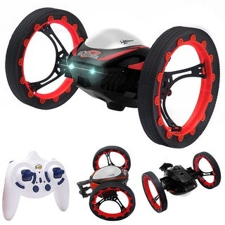 Costway 2.4GHz 4CH RC Bounce Car Remote Control Jumping Stunter 360 degree Spin Kids Gift
