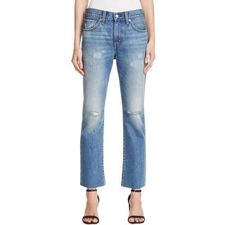 Levi's Womens Ankle Jeans Denim Distressed