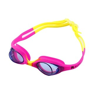 Clear Vision Anti Fog Swimming Goggles Glasses Pink Yellow for Youth Kids Child
