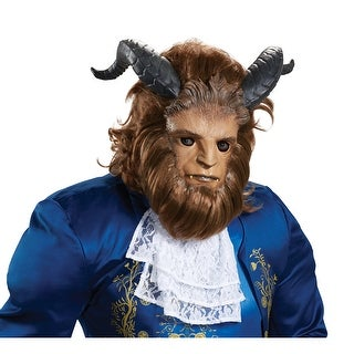 Mens Beast Ultra Prestige Costume Mask with Hair - standard - one size