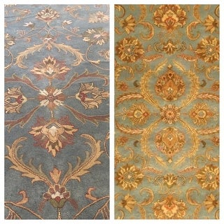 Safavieh Handmade Heritage Timeless Traditional Blue/ Beige Wool Rug (9'6 x 13'6)