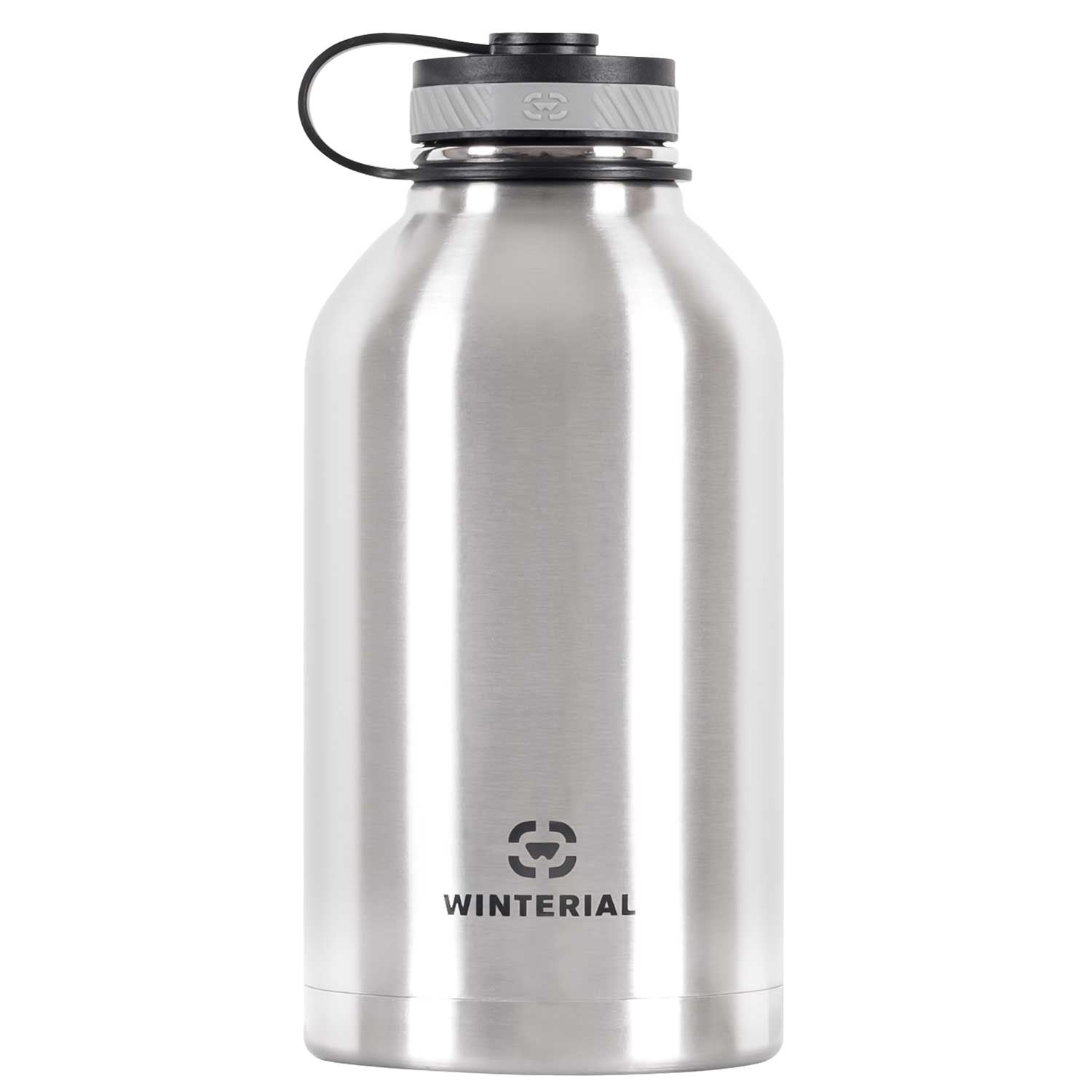 Winterial 64 oz Insulated Steel Water Bottle and Beer Growler. Double Walled Thermos Flask - Thumbnail 0